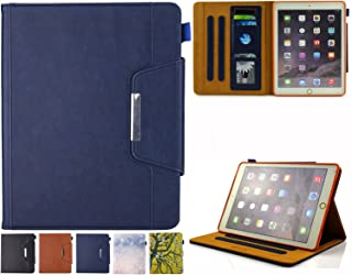iPad Mini Case, iPad Mini 1/2/3/4 Case - JZCreater Folio Stand Multi Angle Viewing Wallet Case Cover with Auto Sleep/Wake for Apple iPad Mini 1/2/3/4, Blue