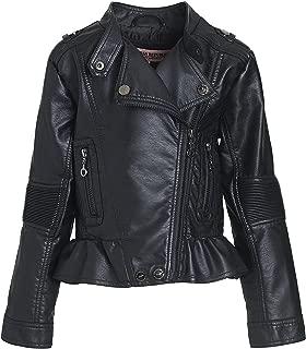 Urban Republic Girl's Faux Leather Motorcycle Moto Biker Jacket (Toddler/Little Girls/Big Girls)