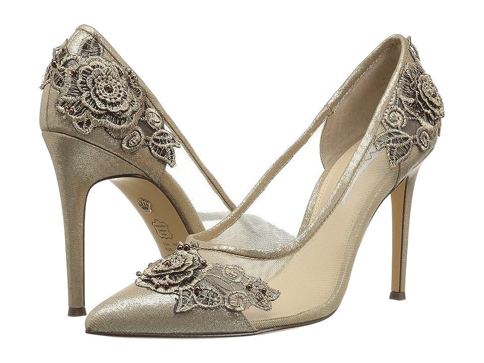 Nina Donela (Taupe Reflective Suedette) High Heels