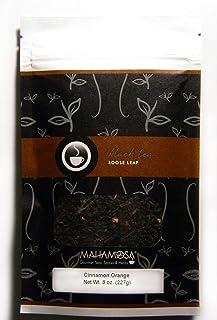 Sponsored Ad - Mahamosa Cinnamon Orange Tea 8 oz - Loose Leaf Flavored Black Tea Blend (with orange peel, cinnamon pieces,...