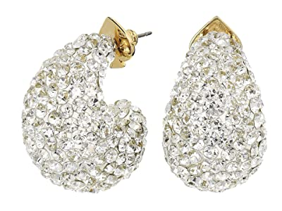 Kate Spade New York Adore-Ables Clay Pave Huggies Earrings (Clear) Earring