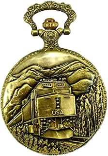 Railroad Approved Railway Regulation Standard Train Pocket Watch 150th Spike Anniversary 4 Passenger Unit F40PH