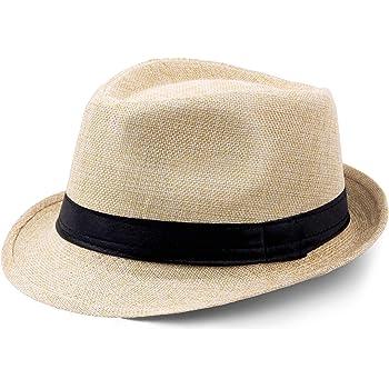 Coucoland Panama Chapeau Mafia Gangster Pour Homme Fedora Trilby Bogart 1920s Gatsby Costume Accessoires Taille Unique Beige Amazon Fr Vêtements Et Accessoires