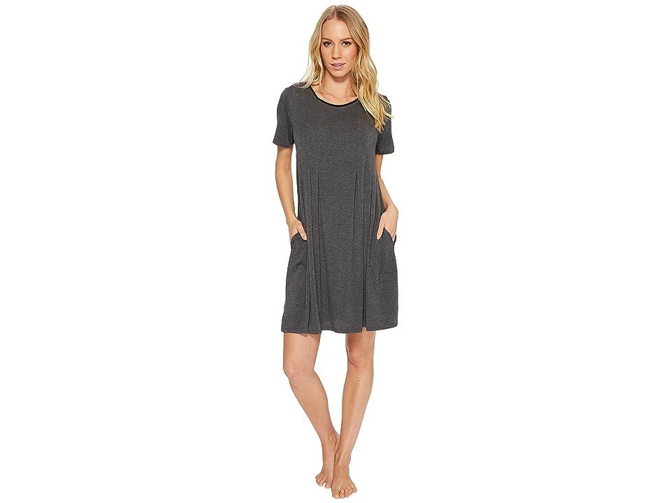 Donna Karan Modal Spandex Jersey Sleepshirt (Charcoal Heather) Women