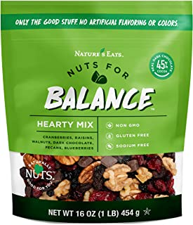 Nature's Eats Nuts for Balance Hearty Trail Mix, chocolate, 16 Ounce