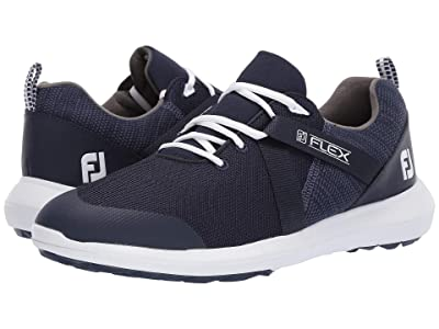 FootJoy FJ Flex Spikeless U-Throat Mesh Athletic All Over (Navy) Men