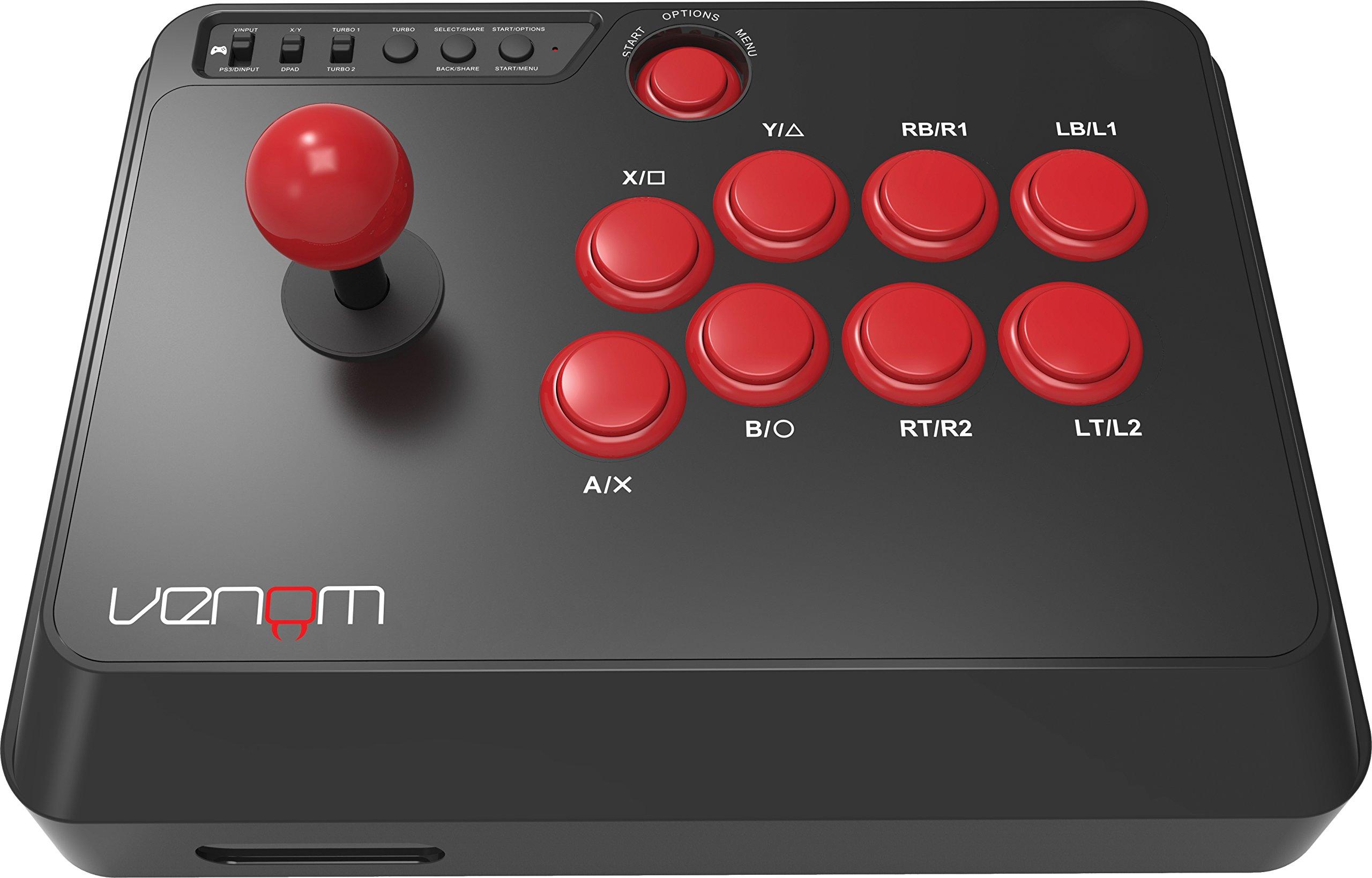 Venom Multi Format 8-Button Arcade Fight Stick (PS4 / Xbox One / PC): Amazon.es: Videojuegos