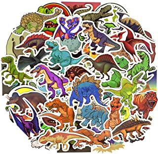 Waterproof Dinosaur Vinyl Stickers Bomb Laptop Water Bottle Bike Toys for Kids(50Pcs/Pack)