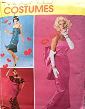 McCall's 3385 Misses Glamour Costumes: Flapper, Marilyn Monroe, Spanish Dancer Sewing Pattern Size 6-8-10-12