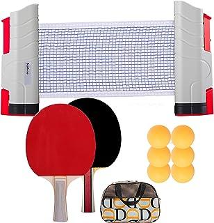 SIRUITON Set de Tennis de Table, Raquette de Tennis de Table Set,2 Raquettes de Ping Pong, 6Balles,1 Sac, 1 Extensibles Fi...