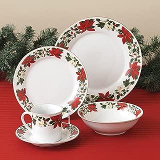 Gibson Dinnerware, Poinsettia Holiday 20 Piece Set