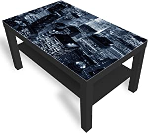 DekoGlas IKEA New York City Table Basse avec Plateau en Verre