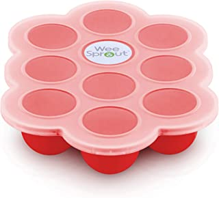 WeeSprout Silicone Baby Food Freezer Tray with Clip-on Lid by WeeSprout - Perfect Storage Container for Hom...
