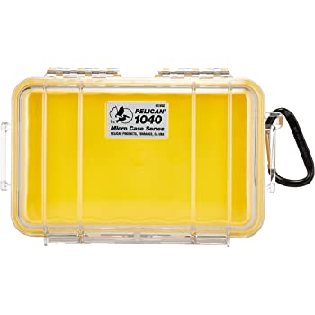 Pelican 1040-027-100 1040 Micro Case (Yellow/Clear)