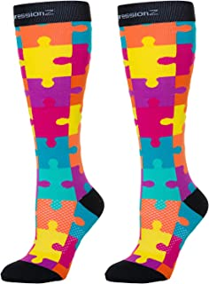 CompressionZ Compression Socks 20-30 mmHG for Men & Women - Nurses, Runners