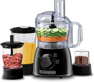 Black+Decker 400W 29 Function Food Processor with Blender, Mincer & Grinder, Black - KR43-B5, 2 Years Warranty