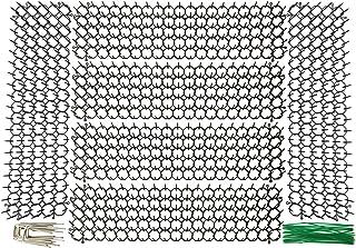 Plai 6 x Pinchos Antipaloma de plástic, Disuasión Repelente para Animales Aves Perro Gato +12 Grapas en forma de U + 30 Alambre verde