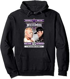 Wrestlemania Poster Brock Lesnar Pullover Hoodie