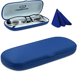 MyEyeglassCase hard eyeglass case & reading glasses case | for S/M & long frames