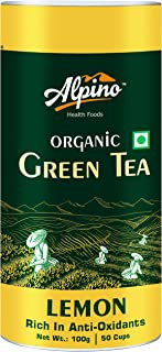 Alpino Certified Organic Lemon Green Tea 100 G (Rich in Anti-Oxidants / Detox Green Tea)