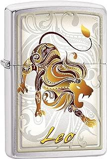 Zippo Personalized Customize Message Engraving on Backside Horoscope Zodiac Sign Lighter (Leo)
