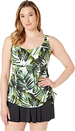 Plus Size Palmtastic Adjustable Tank Swimdress