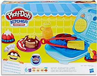 Play-Doh - Kitchen Creations - Breakfast Bakery inc 6 Tubs of Dough & Acc - Creative Kids Toys - Ages 3+
