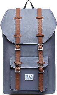 KAUKKO Unisex Nylon Rucksack für 15 Zoll Laptop für Arbeit, Schule oder Reise, 20.77 Liters, 26  17  47 cm Grau JNL-D1-09
