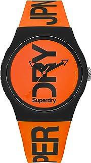 ساعة انالوج فلورو سيليكون بمينا بلون برتقالي غير لامع تحمل شعار اوربان للرجال من سوبر دراي - طراز SYG189OB