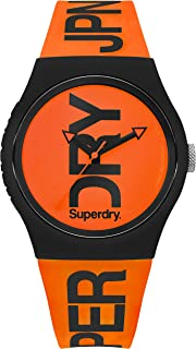 Superdry Urban Quartz Watch with Silicone Strap, Orange, 18 (Model: SYG189OB)