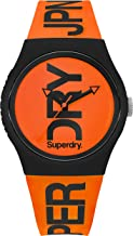 Superdry Urban Quartz Watch with Silicone Strap, Orange, 18 (Model: SYG189OB)