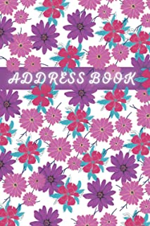 Address Book And Birthday: This Large Print Address Book With Alphabet Index Helps You To Keep Your Important contacts Inf...