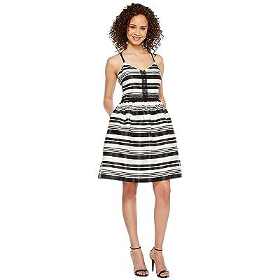 Jessica Simpson Striped Party Dress JS7A9599 (Ivory/Black) Women
