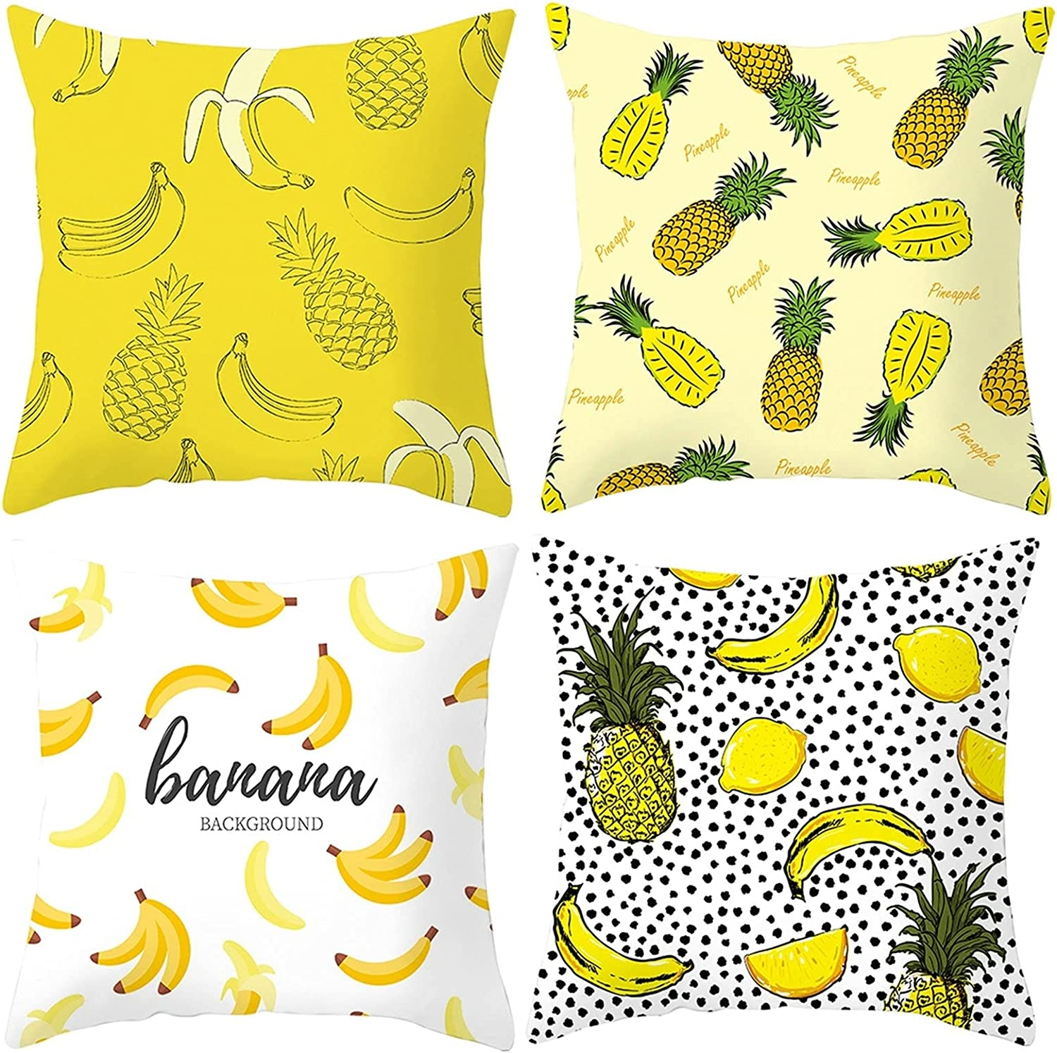 Daesar Soft Throw Pillow Covers Same day shipping Limited time for free shipping Kids Pillowcases B 4 Pack White