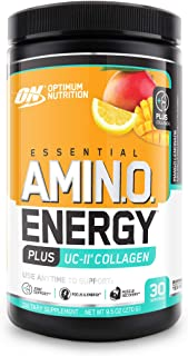 Optimum Nutrition Amino Energy + Collagen Powder - Pre Workout, Post Workout Muscle Recovery Energy Powder with Amino Acid...