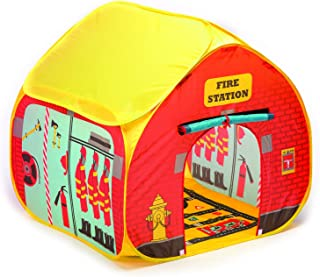 Fun2Give Pop-It-Up Firestation Tent with Streetmap Playmat Playhouse