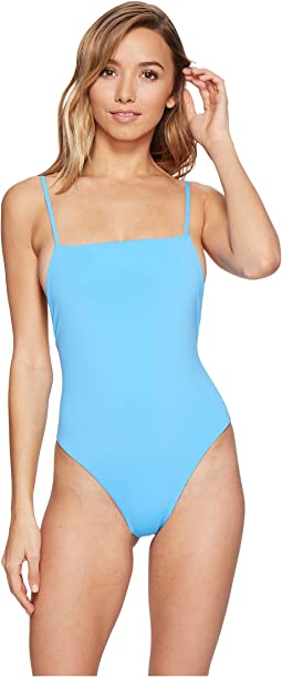 Solid High Cut One-Piece
