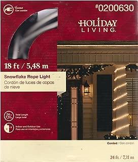18' clear bulbs white Snowflake rope lights.