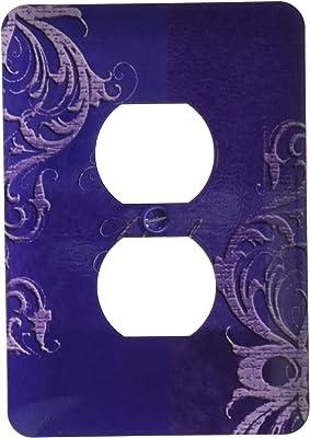 3drose Lsp 55086 6 Elegant Vines On Purple Tone Thank You 2 Plug Outlet Cover Outlet Plates Amazon Com