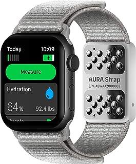 AURA Strap Composición corporal y nivel de hidratación, banda de seguimiento de actividad física compatible con Apple Watc...