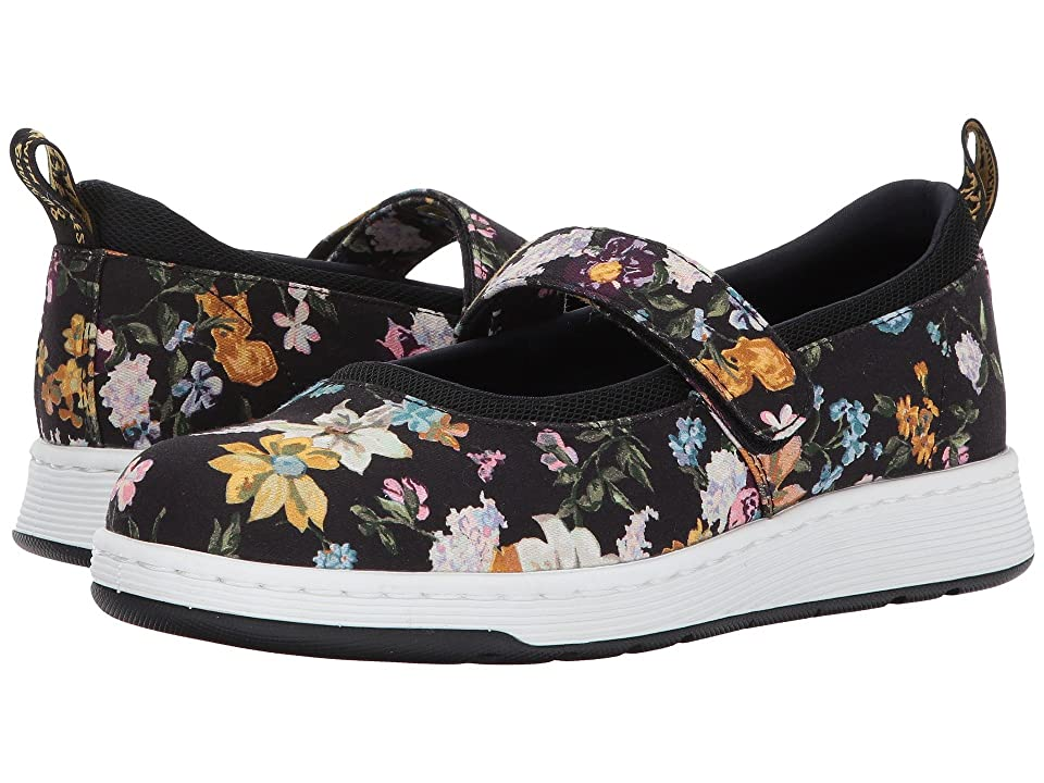 Dr. Martens Askins DF Mary Jane Shoe (Black Darcy Floral Fine Canvas/Black Sport Spacer Mesh) Women