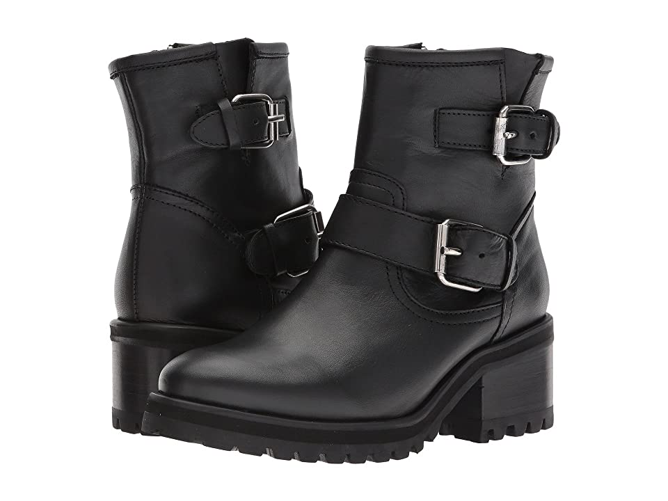 Steve Madden Gain (Black Leather) Women