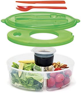 Innovia Imports II-136 6 pc Container salad continer, lunch box, Green