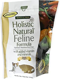 Bench & Field Holistic Natural Feline Formula, Cat Food, 3-Pound Bags (Pack of 3)