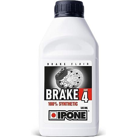 IPONE 800312 Liquide de Frein et Embrayage Moto – Brake Dot 4 – 100% Synthétique-Point d'ébullition à Sec 270°C, Other, 500 ml