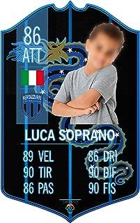 Adesivo Murale - Card Personalizzata FUT Player - Inter - Plug Calcio Soccer Cameretta Idea Regalo Squadra del Cuore Calci...