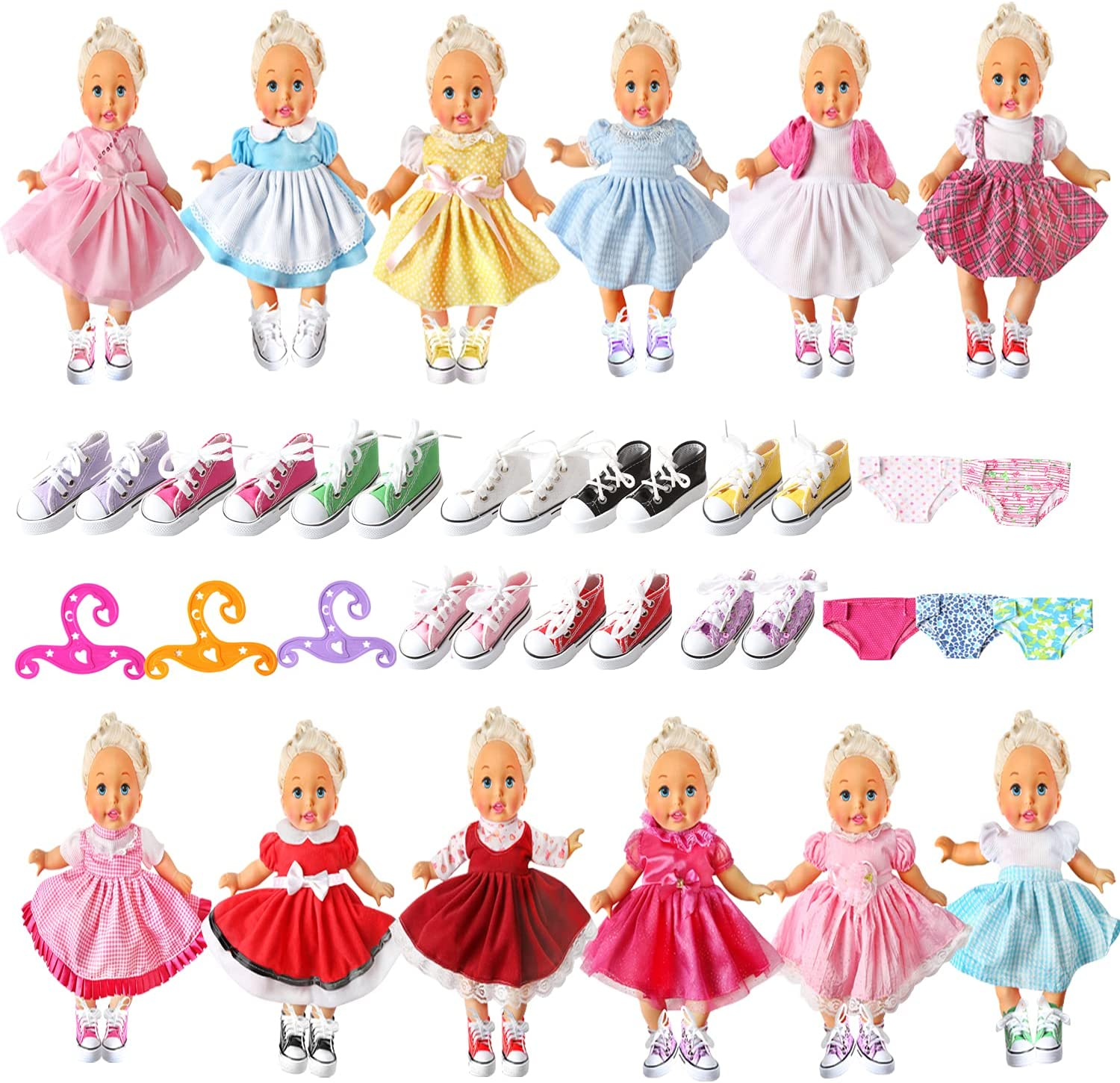 Alive Baby Doll Clothes and Accessories Girl Dres 19 Sets - Financial Now free shipping sales sale