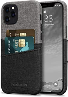 TENDLIN iPhone 12 Pro Max ケース 手帳型 財布型 レザーケース 耐衝撃 カバー 薄型 軽量 ワイヤレス充電対応 アイフォン12プロマックス(ブラック&グレー)