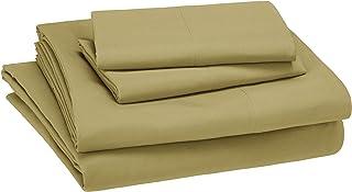 AmazonBasics Kid's Sheet Set - Soft, Easy-Wash Lightweight Microfiber - Full, Mossy Green