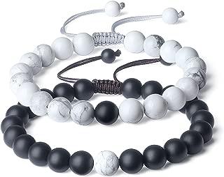 Adjustable Long Distance Stone Couples Bracelets